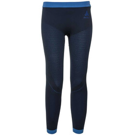 Odlo Performance Warm Pants Kids diving navy/energy blue